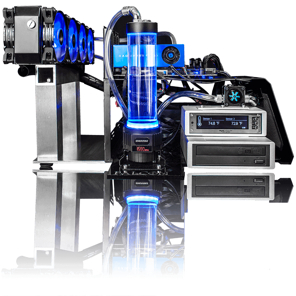 F-1 Blue Max Side View Trading Computer